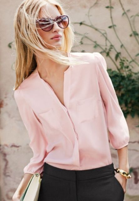 Picture Of beautiful pink work outfits for girls  14