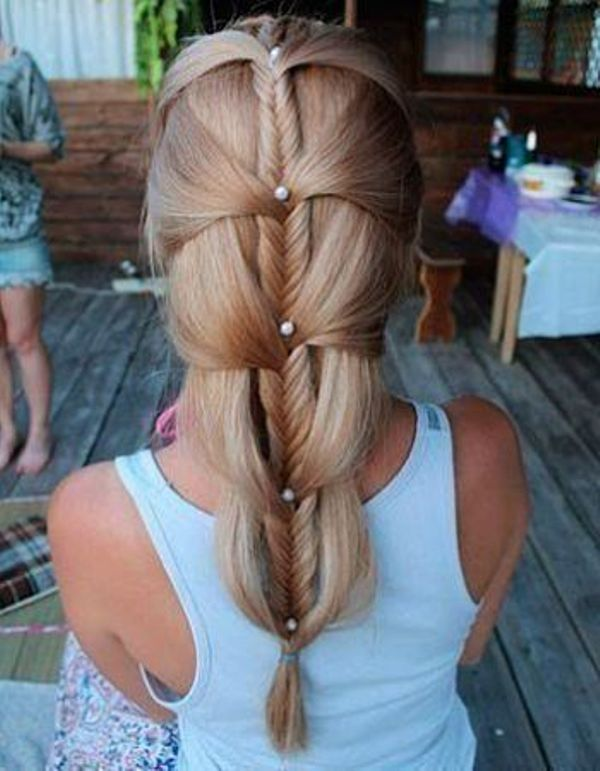Easy Faux Fishtail Braid Click Through For Full Tutorial
