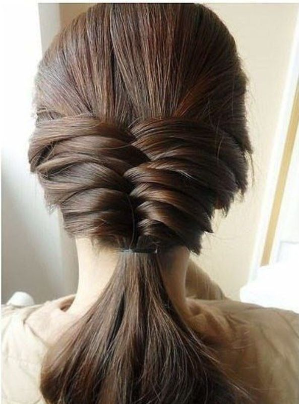 fishtail hair style picture of cool ideas to do fishtail hairstyle 9 1662