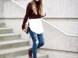 10 Cool Looks With Trendy Burgundy Boots3