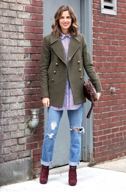 Picture Of Cool Looks With Trendy Burgundy Boots 4