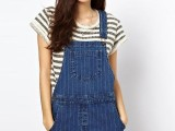 10 Trendy Pinafore Denim Dresses This Season10