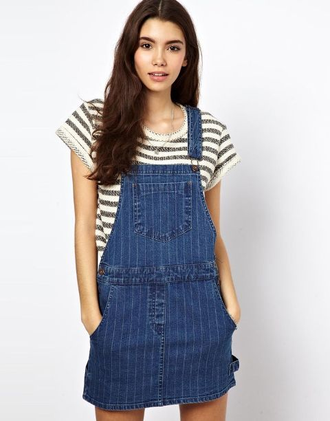Picture Of Trendy Pinafore Denim Dresses This Season 10