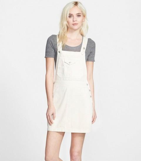 Trendy Pinafore Denim Dresses This Season