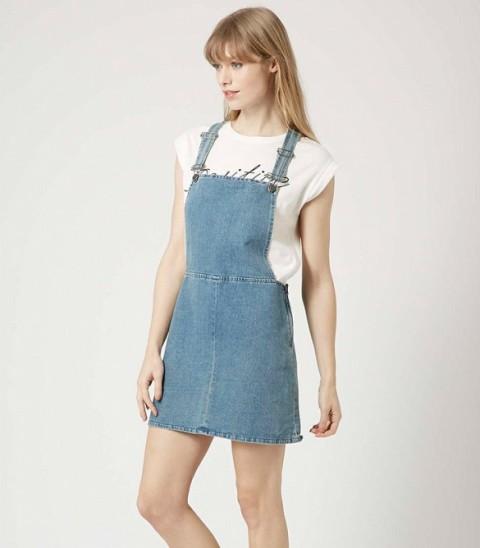 Picture Of Trendy Pinafore Denim Dresses This Season 7