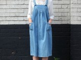 10 Trendy Pinafore Denim Dresses This Season9