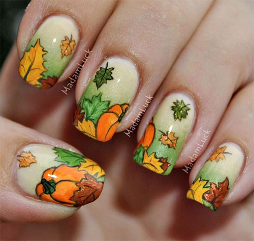 Autumn Inspired Nails 5 (via girlshue)
