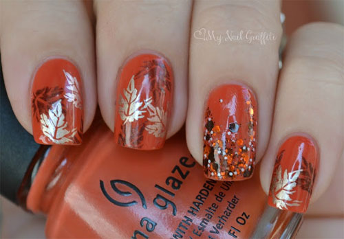 Picture Of Autumn Inspired Nails 8