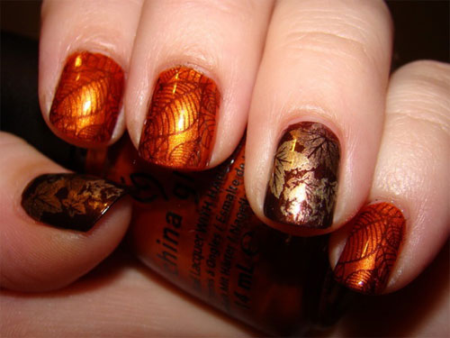 Picture Of Autumn Inspired Nails 9