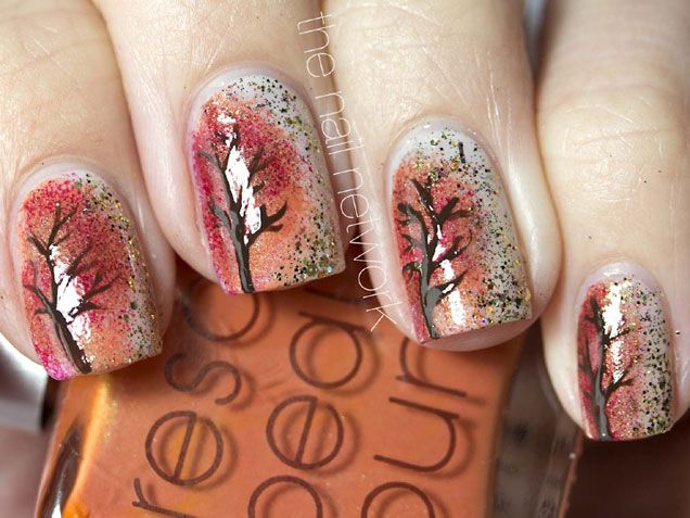 Picture Of Autumn Inspired Nails 10