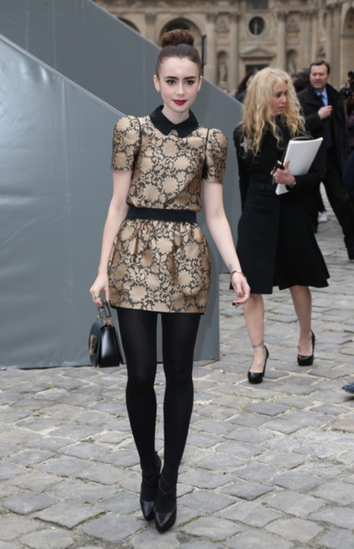 Picture Of best everyday looks of lily collins  5