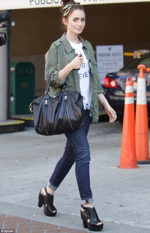 Picture Of best everyday looks of lily collins  6