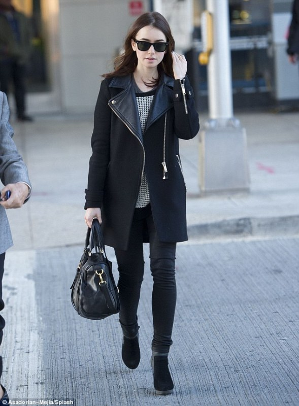 Picture Of best everyday looks of lily collins  7