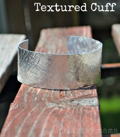 10 Minutes DIY Textured Stamped Cuff