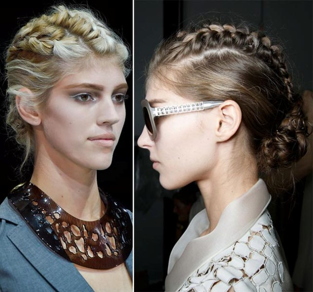 Picture Of not so ordinary and trendy braids from 2015 fashion weeks  2