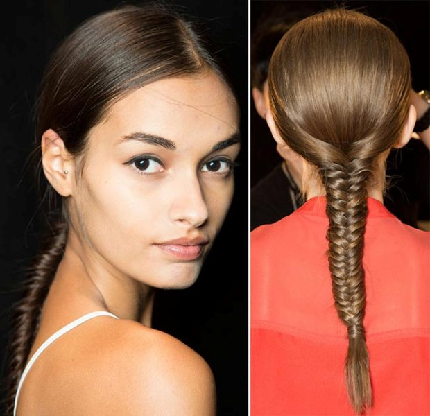Picture Of not so ordinary and trendy braids from 2015 fashion weeks  3