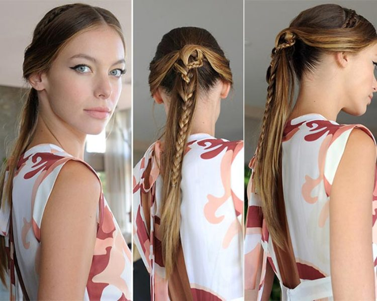 Picture Of not so ordinary and trendy braids from 2015 fashion weeks  9