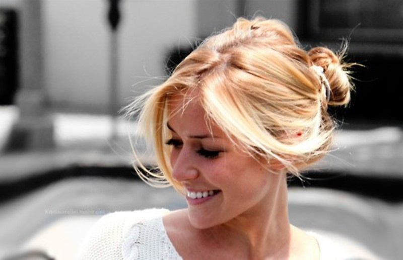 Picture Of trendy ballerinas inspired messy bun hairstyles  1