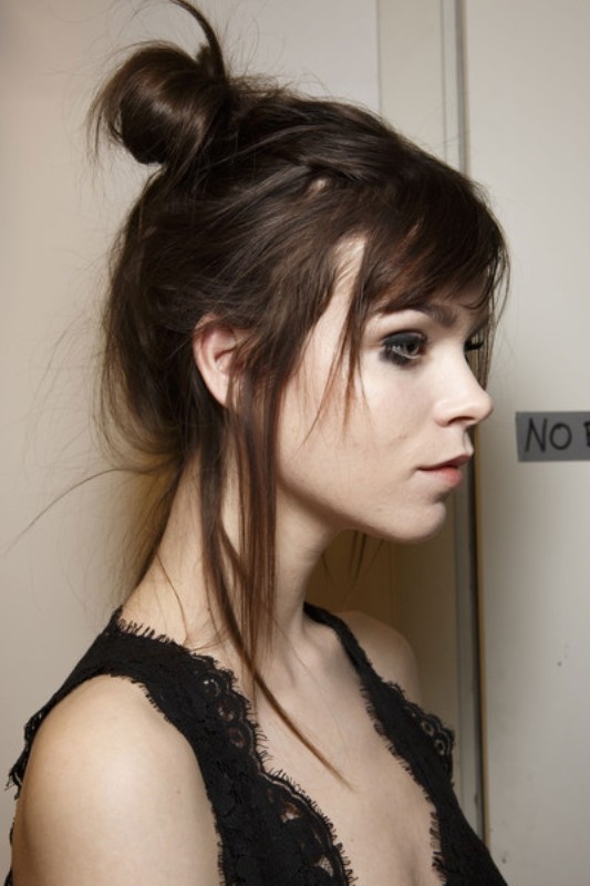 Picture Of trendy ballerinas inspired messy bun hairstyles  10