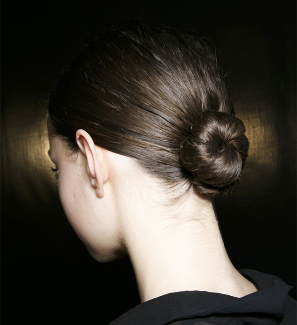 Picture Of trendy ballerinas inspired messy bun hairstyles  2