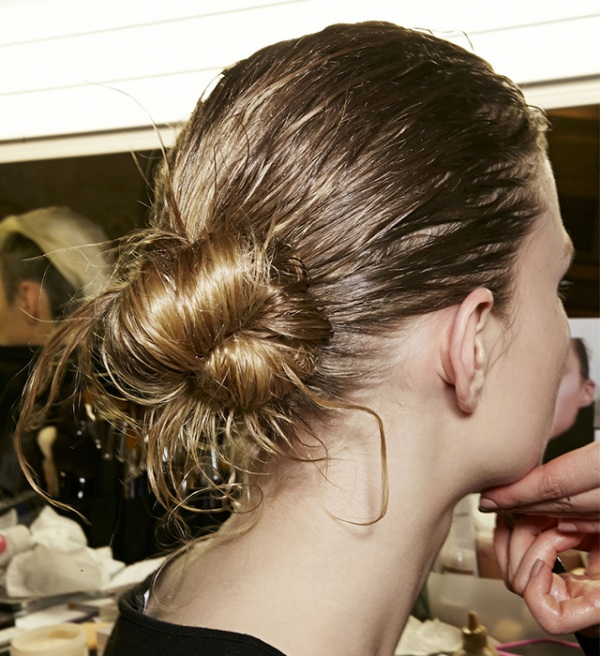Picture Of trendy ballerinas inspired messy bun hairstyles  6