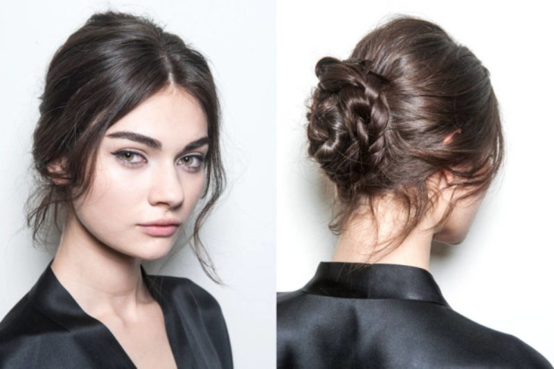 Picture Of trendy ballerinas inspired messy bun hairstyles  7
