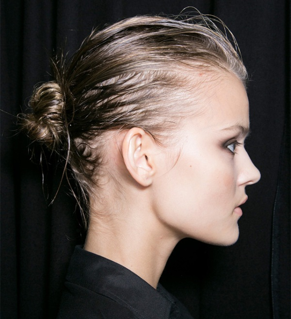 Picture Of trendy ballerinas inspired messy bun hairstyles  8