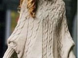 11 Comfortable Knitted Ponchos For Autumn Days10