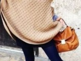 11 Comfortable Knitted Ponchos For Autumn Days8