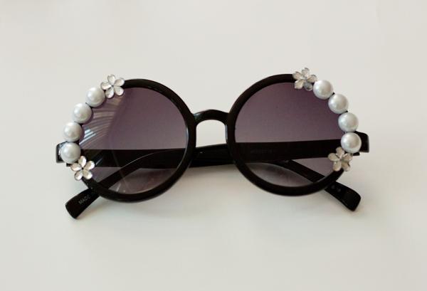 DIY Pearl Embellished Sunnies