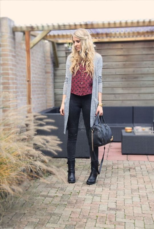 Picture Of cozy and chic looks with long cardigan to inspire  10
