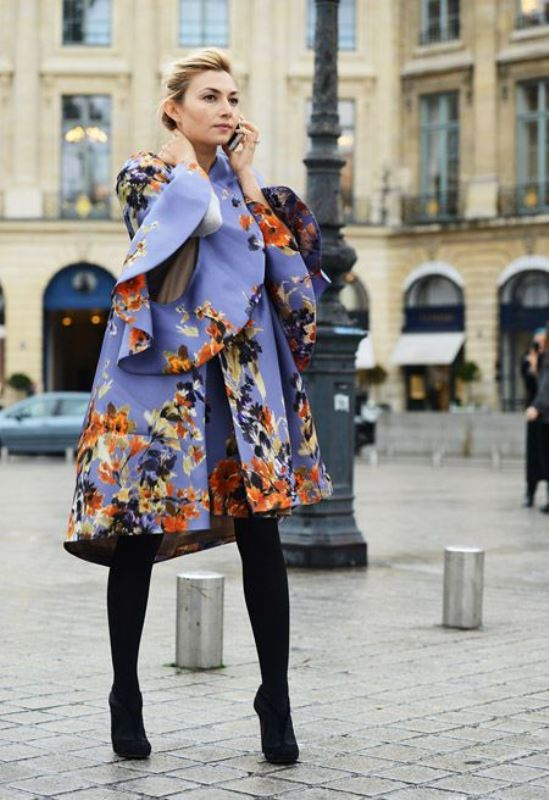 Picture Of lovely floral overcoats to wear this fall  12