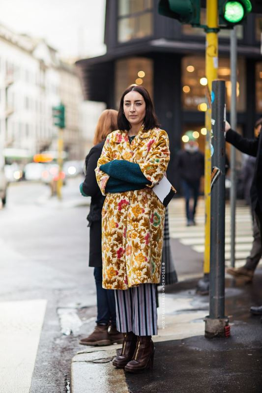 Picture Of lovely floral overcoats to wear this fall  3