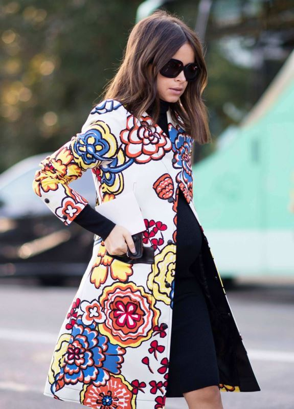 Picture Of lovely floral overcoats to wear this fall  6