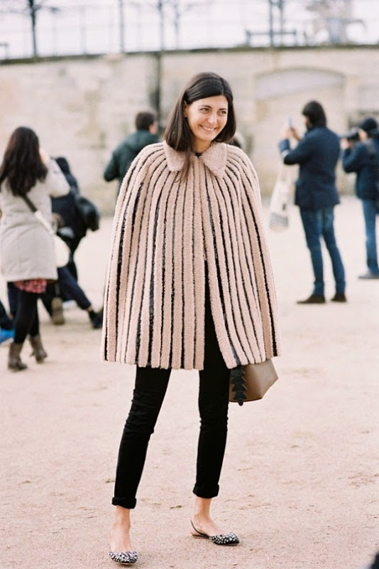 Picture Of stylish and warm ways to wear cape this fall  13