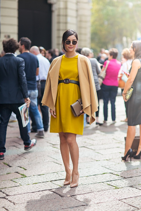 Picture Of stylish and warm ways to wear cape this fall  2