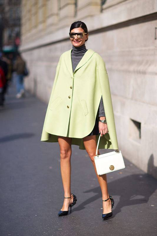Picture Of stylish and warm ways to wear cape this fall  4