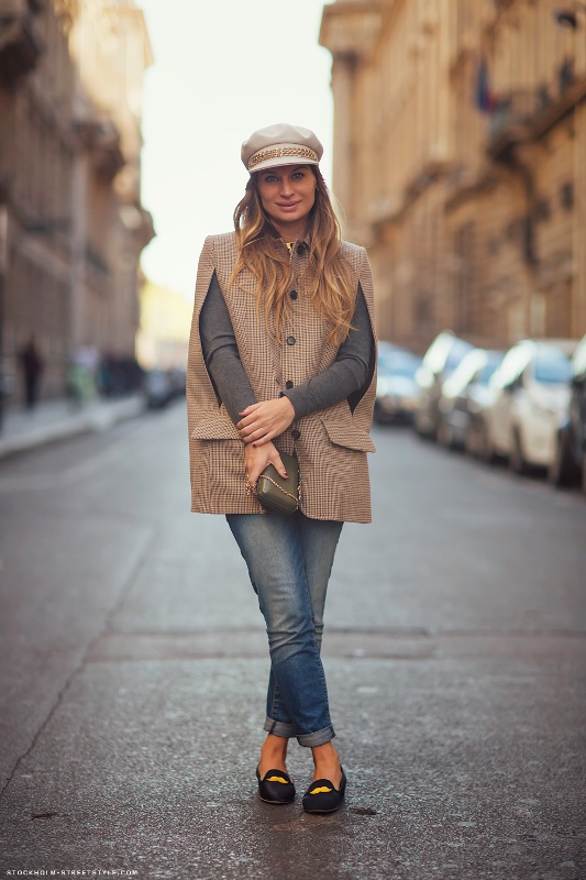 Picture Of stylish and warm ways to wear cape this fall  5