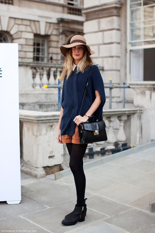 Picture Of stylish and warm ways to wear cape this fall  7