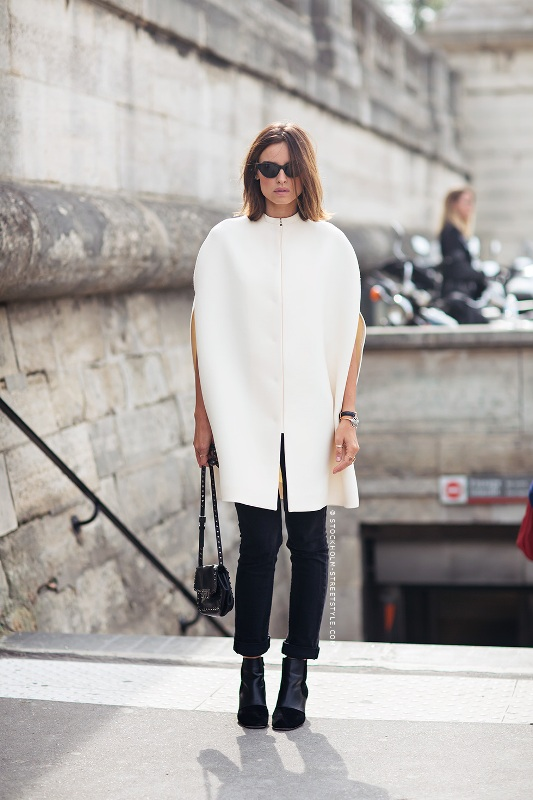 Picture Of stylish and warm ways to wear cape this fall  8