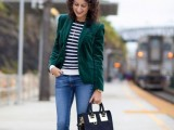 15 Awesome Velvet Jacket Outfits For Stylish Ladies15