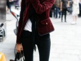15 Awesome Velvet Jacket Outfits For Stylish Ladies2