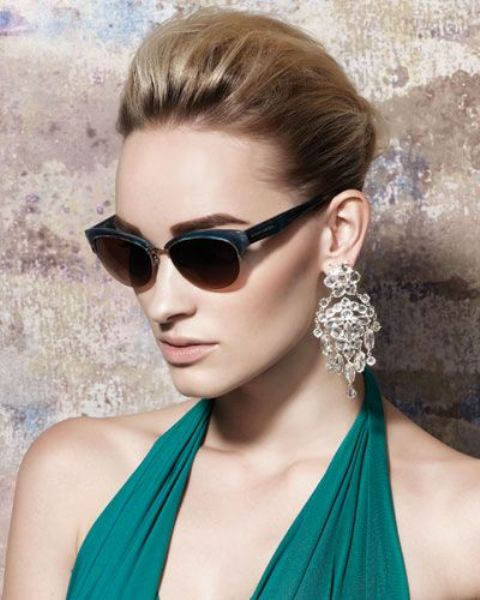 Picture Of Beautiful Semi Rimless Sunglasses For This Season 4