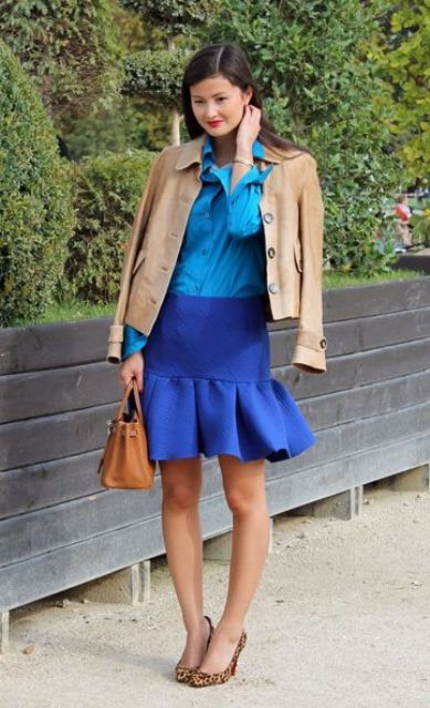 Picture Of Chic Office Looks In Blue Shades 11