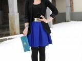 15 Chic Office Looks In Blue Shades13