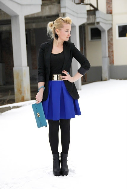 Chic Office Looks In Blue Shades