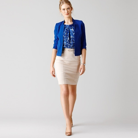 Picture Of Chic Office Looks In Blue Shades 6
