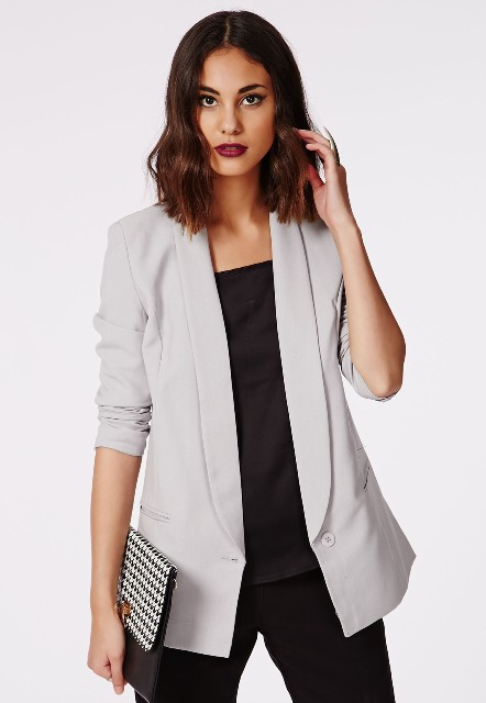 Picture Of Comfortable Fall Outfits With Trendy Long Line Blazers 12