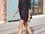 15 Comfortable Fall Outfits With Trendy Long-Line Blazers3