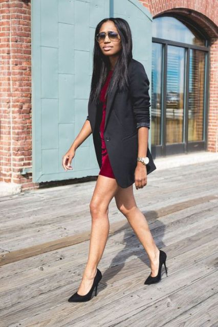 Picture Of Comfortable Fall Outfits With Trendy Long Line Blazers 3